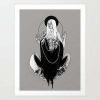 goddess Art Prints featuring Goddess by alesaenzart
