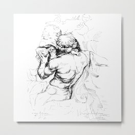 Sculpture from piazza Navona Roma Metal Print