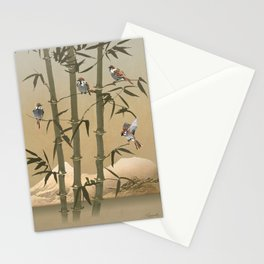 Sparrows And Bamboo Stationery Cards