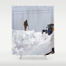 Coastal Snowbank Shower Curtain