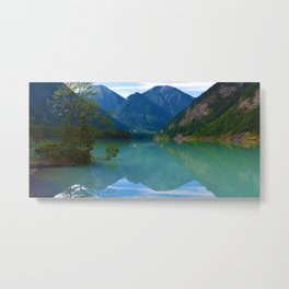 Morning Reflections on Kinney Lake in Mount Robson Provincial Park, British Columbia Metal Print