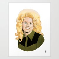 dolly parton Art Prints featuring Dolly by Payden Evans
