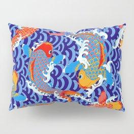 Koi fish / japanese tattoo style pattern Pillow Sham