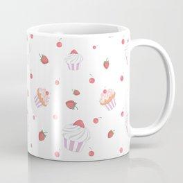 Cute lavender pink strawberries sweet cupcake pattern Coffee Mug