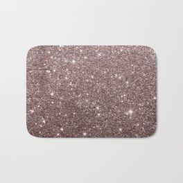 Modern mauve burgundy rose gold glitter Bath Mat