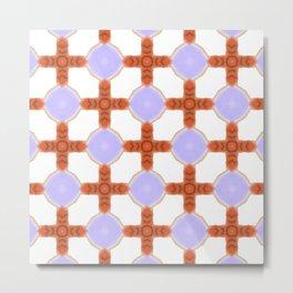 Purple Pastel Checkerboard Metal Print