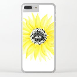 The Sunflower Eye Clear iPhone Case
