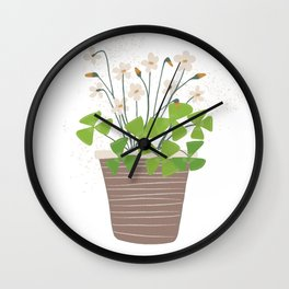 Houseplant Print No 2 (classic) Wall Clock