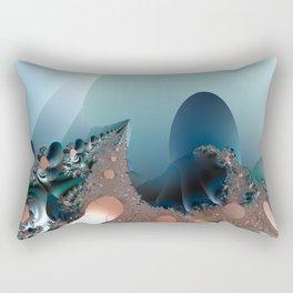 Hiding in a Fantasy Waterworld -- Fractal art by Twigisle at Society6 Rectangular Pillow