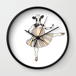 Cow Ballerina Tutu Wall Clock