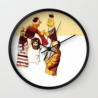 muppets Wall Clocks featuring Bert & Ernie Muppets by joshuahillustration