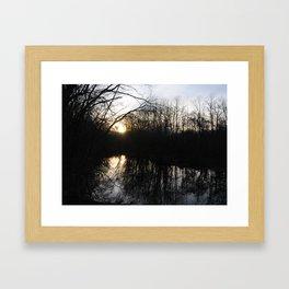 Reflections on Sunset Framed Art Print