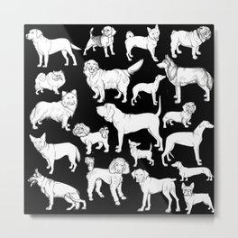 I LOVE DOGS (black) Metal Print