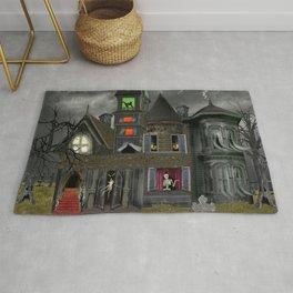 Halloween Haunted Mansion Rug