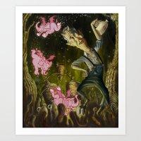 The Demon of Round Cypress Art Print
