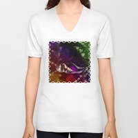 interstellar V-neck T-shirts featuring Interstellar Snake by Distortion Art