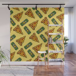 Pizza & Beer Love Wall Mural