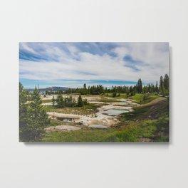 West Thumb Geyser Basin, Yellowstone National Park Metal Print