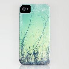 sea plants (teal) iPhone (4, 4s) Slim Case