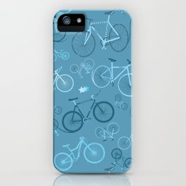 I love bikes in teal iPhone Case