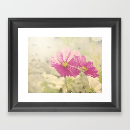 Vintage Cosmos in the Sun Framed Art Print