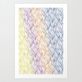 Colorful braid Art Print