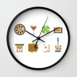 Partying, Poker & Money Nevada Day Wall Clock