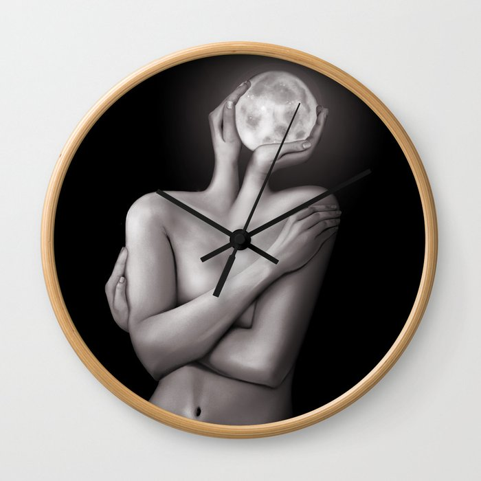 Feeling Moony Wall Clock