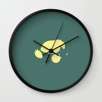 snorlax Wall Clocks featuring Snorlax by Jason Vaughan