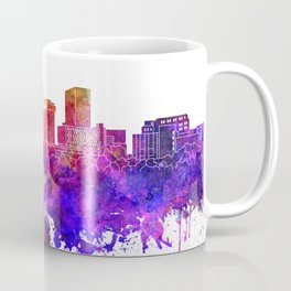 Akron skyline in watercolor background Coffee Mug
