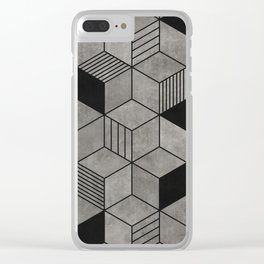 Random concrete hexagons Clear iPhone Case