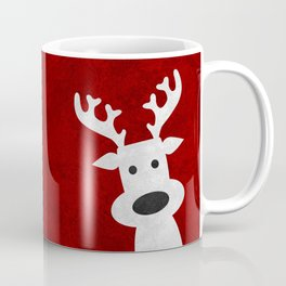 Christmas reindeer red marble Coffee Mug