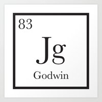 chemistry Art Prints featuring Chemistry by godwinanthology