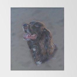 English Cocker Spaniel art print Throw Blanket