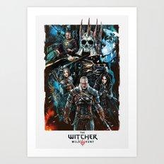 The Witcher Wild Hunt Art Print