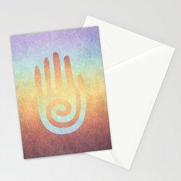 Spiral Hand Rainbow Stationery Cards
