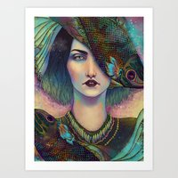 surrealism Art Prints featuring Surrealism by Fernanda Maya