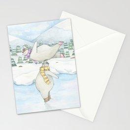 Figure skating polar bears Stationery Cards
