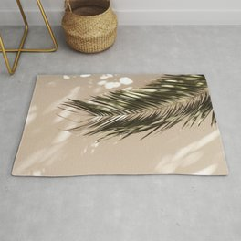 tropical palm leaves vi Rug