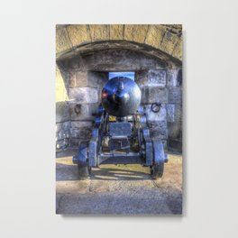 Cannon Edinburgh Castle Metal Print