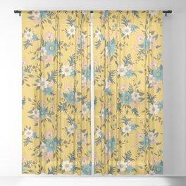 Flowers Sheer Curtain