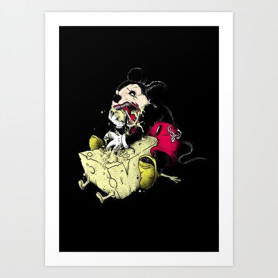 Mickey Gone Wild Art Print