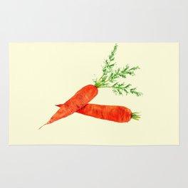 orange carrot watercolor painting Rug