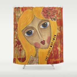 Coco's Closet She Lives Out Loud Shower Curtain