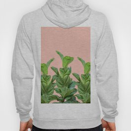 Rubber trees with beige pink Hoody