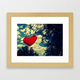Love in the Clouds Framed Art Print