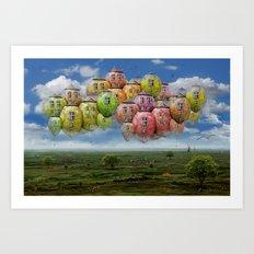 Himmelsreisen ! Art Print