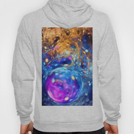 yellow and blue bubbles abstract Hoody