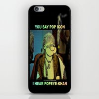 popeye iPhone & iPod Skins featuring POP ICON / POPEYE-KHAN 025 by Lazy Bones Studios