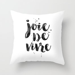 JOIE DE VIVRE, French Decor,French Quote,Dorm Room Decor,Home Decor,Modern Art,Girls Printable,Girls Throw Pillow
